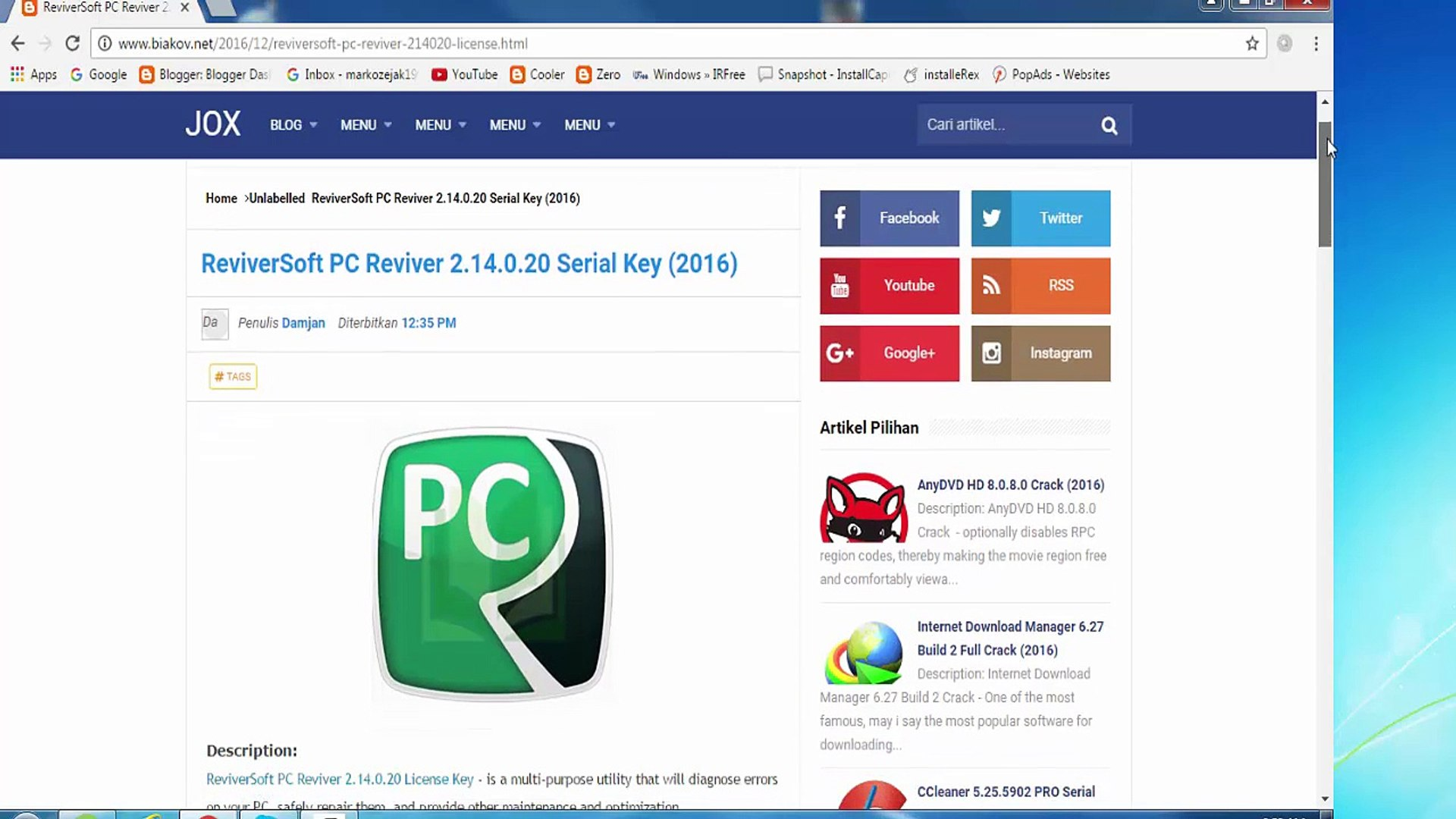PC Reviver Serial Key