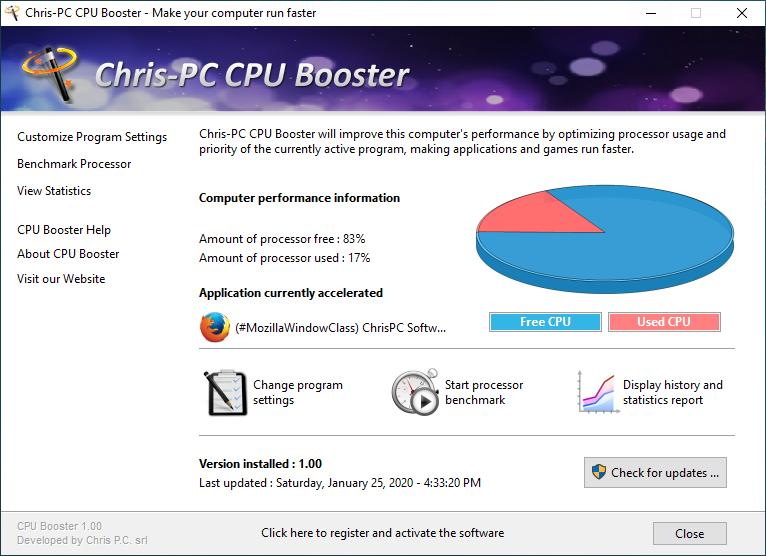 Chris PC Game Booster License Key 1