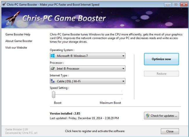 Chris PC Game Booster Serial Key