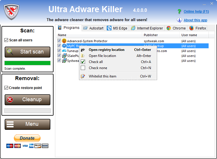 Ultra Adware Killer Serial Key